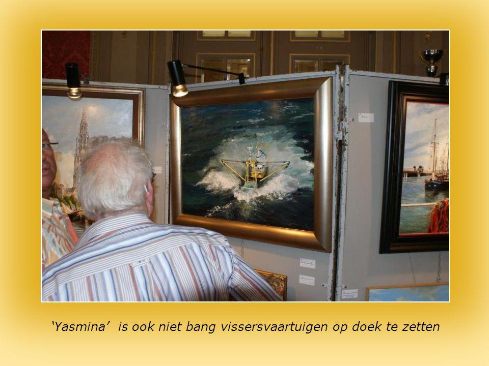 Kunstschilderij van 'Yasmina' : echtgenote van de commandant van de Mercator