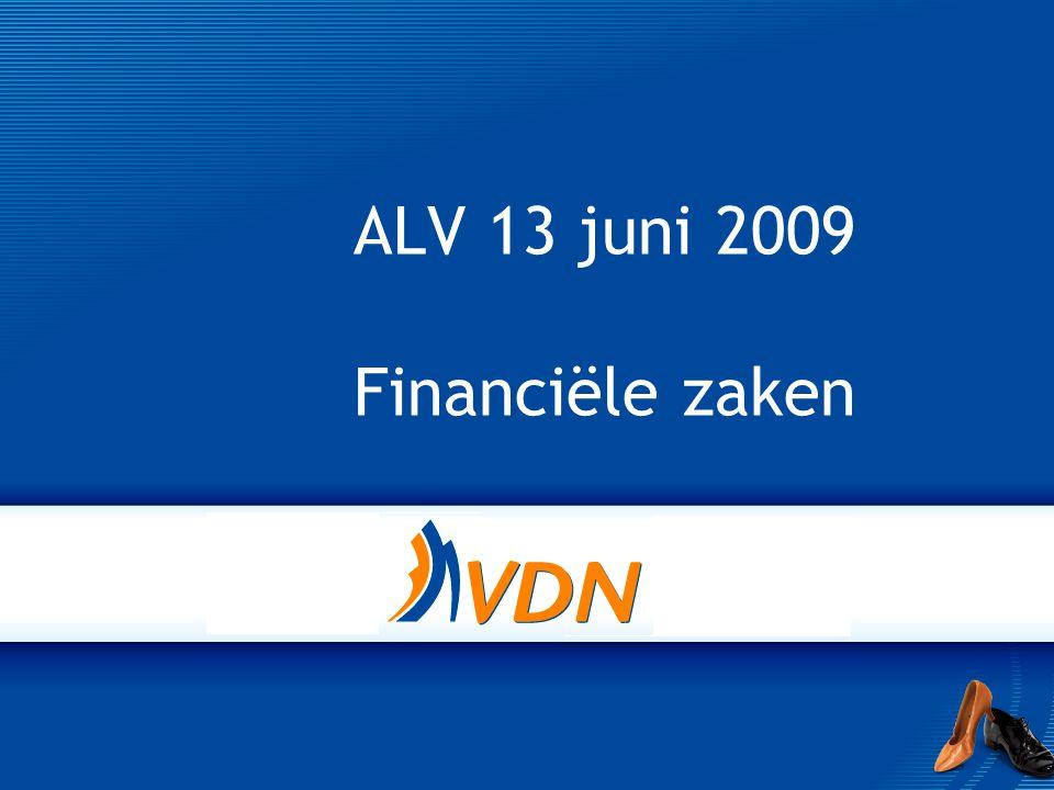 ALV 13 juni 2009 Financiële zaken