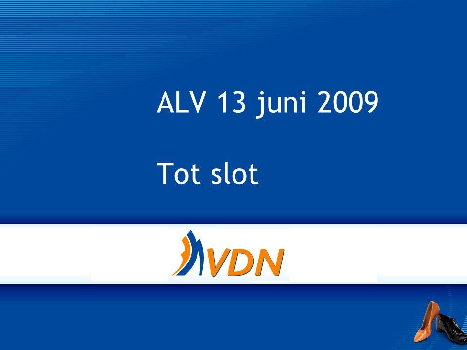 ALV 13 juni 2009 Tot slot