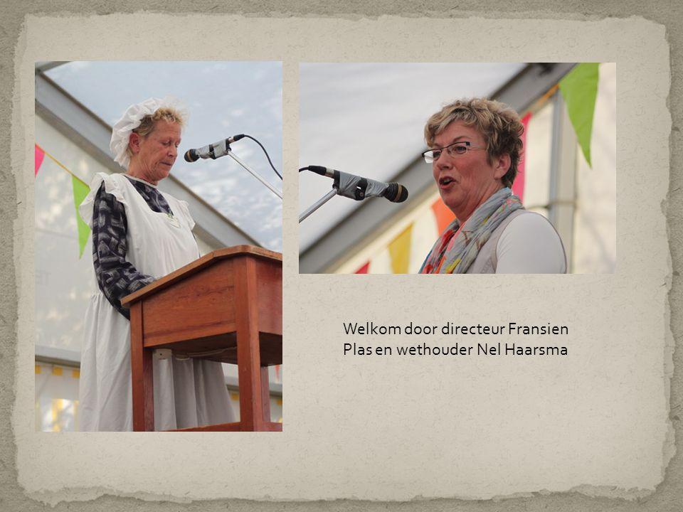 Welkom door directeur Fransien Plas en wethouder Nel Haarsma