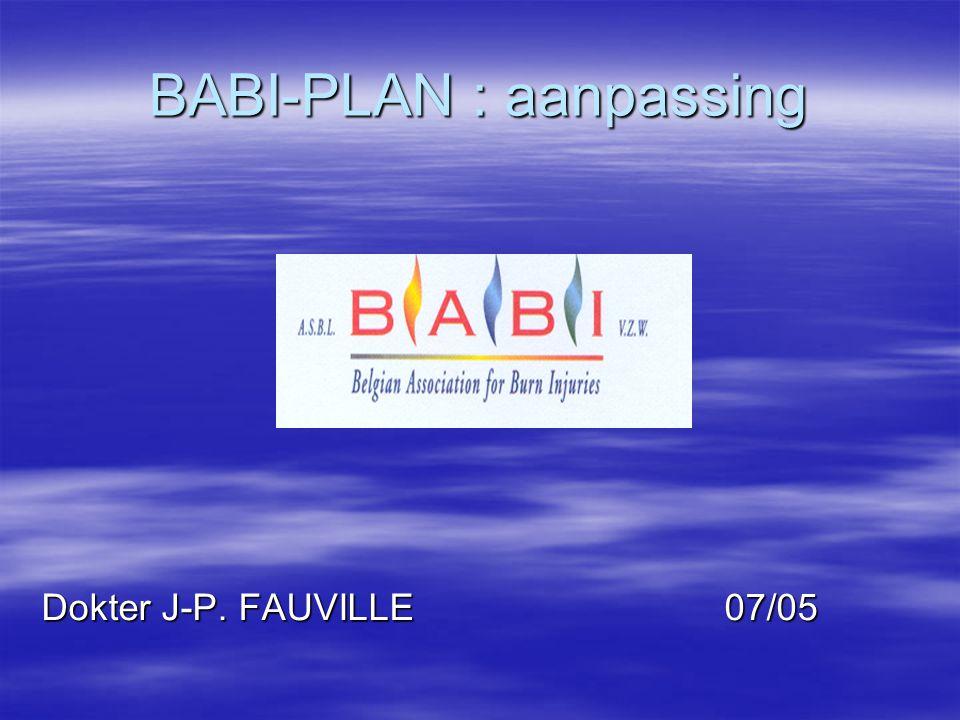 BABI-PLAN : aanpassing Dokter J-P. FAUVILLE 07/05