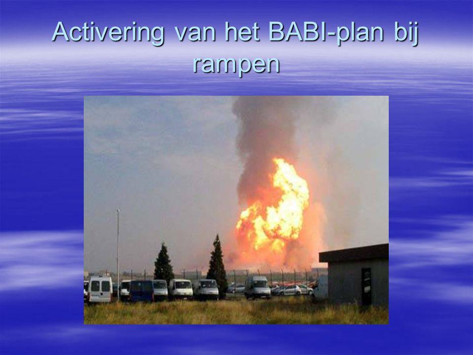 Activering van het BABI-plan bij rampen