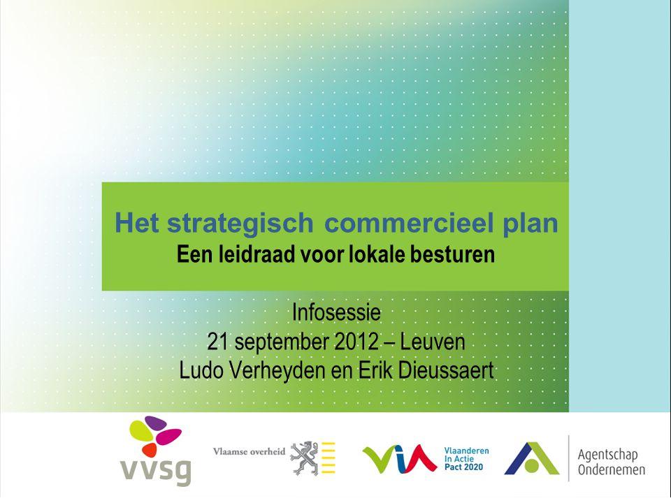 Het strategisch commercieel plan Een leidraad voor lokale besturen Infosessie 21 september 2012 – Leuven Ludo Verheyden en Erik Dieussaert