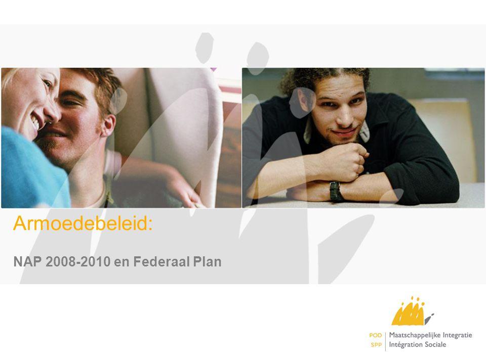 AGENDA I.Armoedebeleid in België Federaal Plan Armoedebestrijding II.