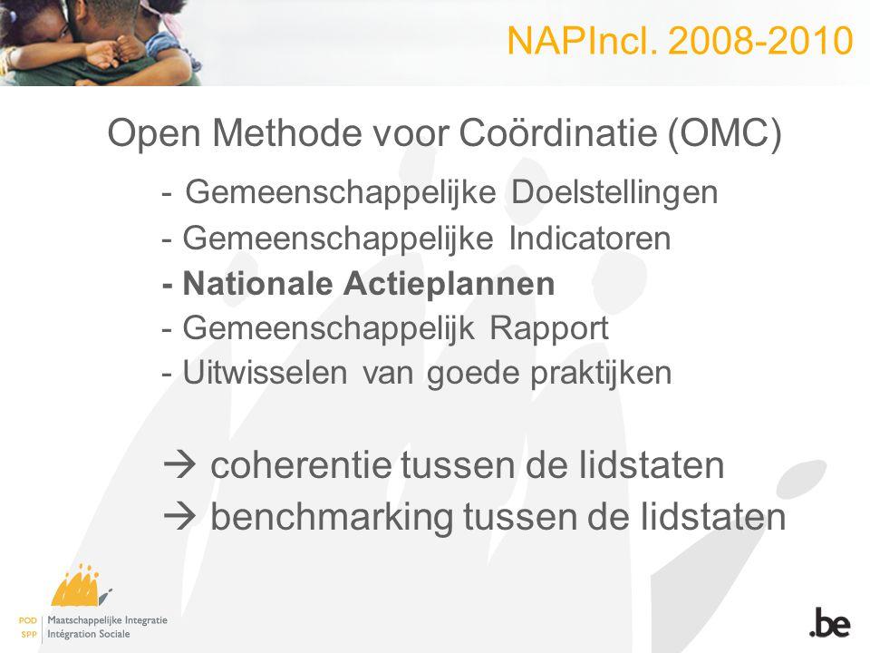 NAPIncl. 2008-2010 Open Methode voor Coördinatie (OMC) - Gemeenschappelijke Doelstellingen - Gemeenschappelijke Indicatoren - Nationale Actieplannen -