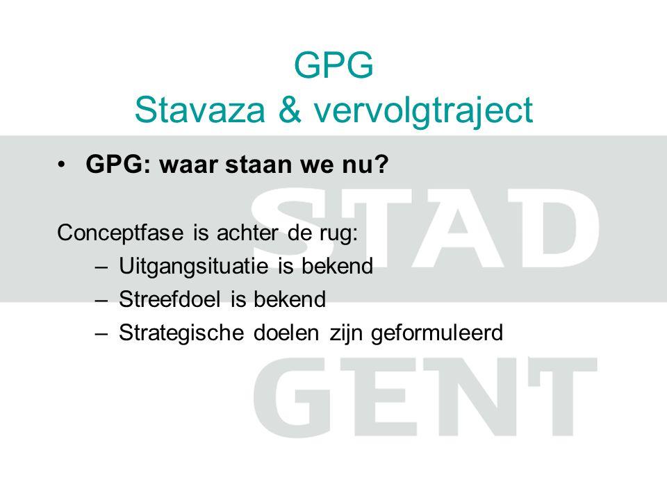 GPG Stavaza & vervolgtraject GPG: waar staan we nu.