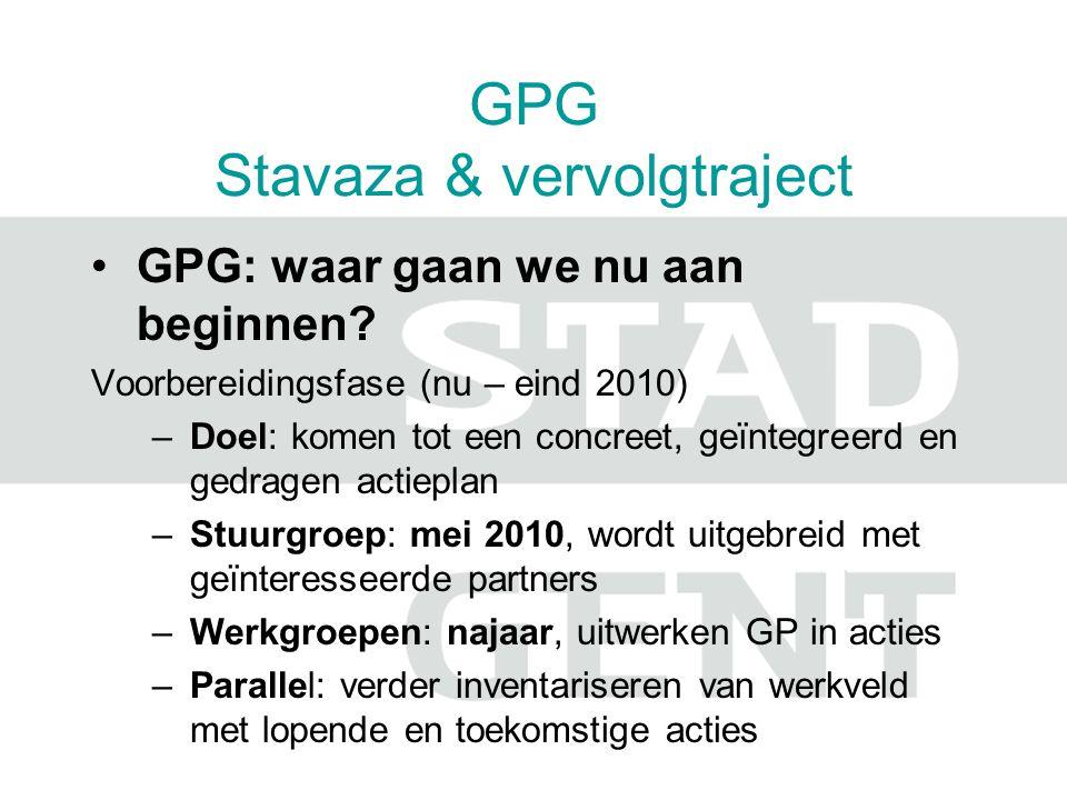 GPG Stavaza & vervolgtraject GPG: waar gaan we nu aan beginnen.