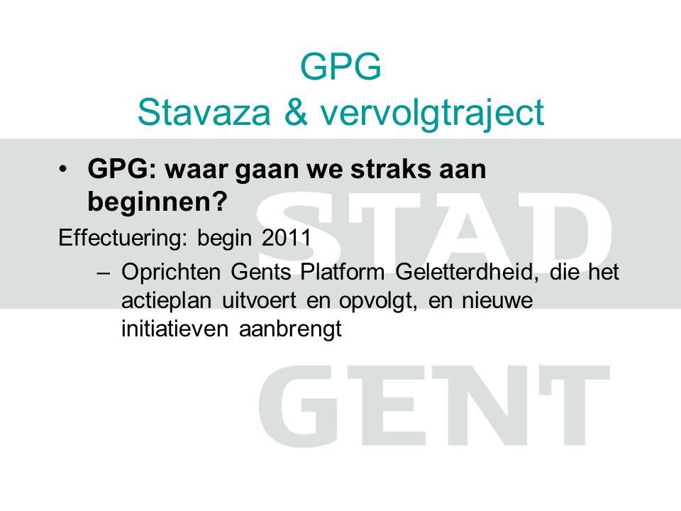 GPG Stavaza & vervolgtraject GPG: waar gaan we straks aan beginnen.