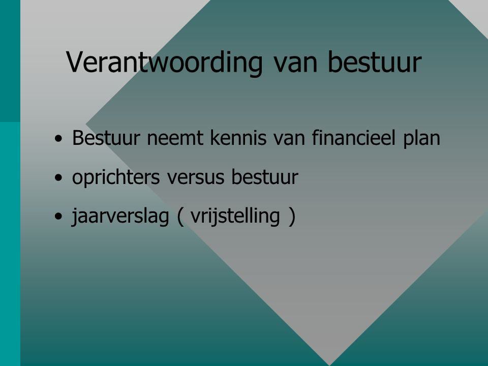 Planning en budgetten beheersdocument
