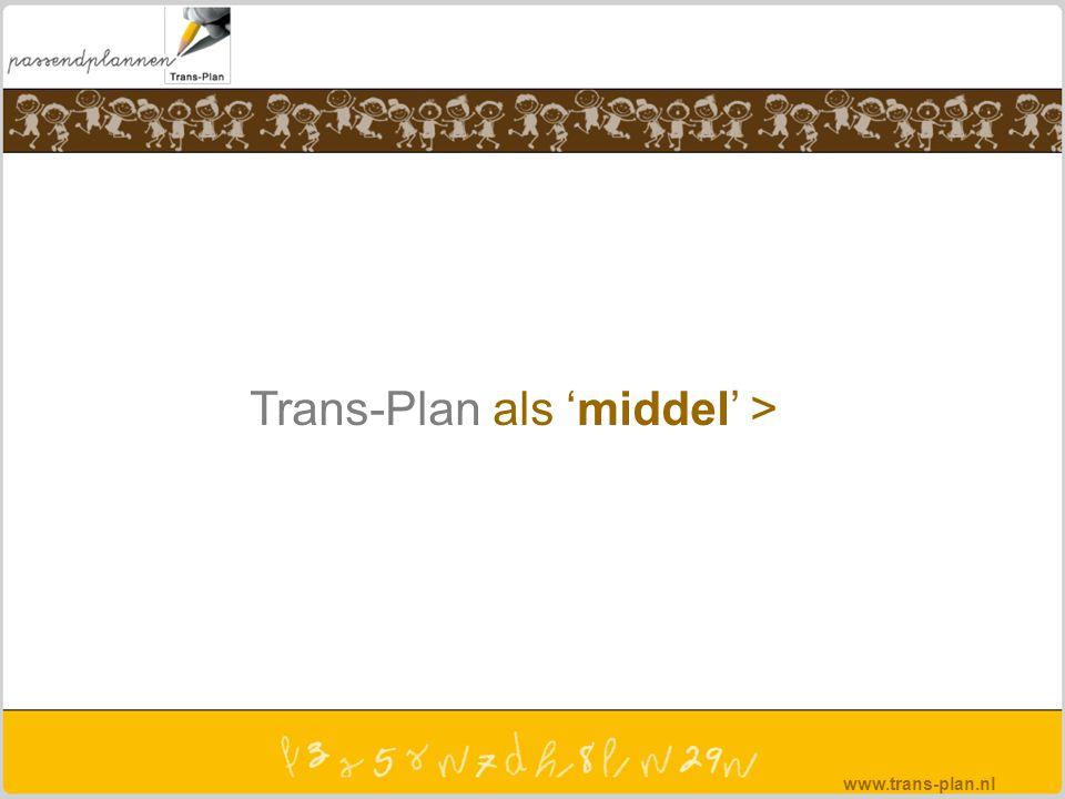 Trans-Plan als 'middel' > www.trans-plan.nl