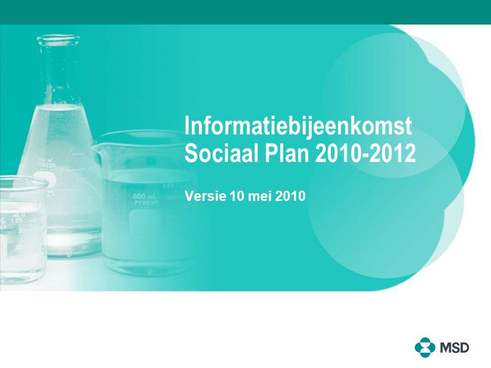 2 Vooraf ► Deze presentatie is een samenvatting van het Sociaal Plan 2010-2012 ► Aan deze presentatie kunnen geen rechten worden ontleend ► De tekst van het Sociaal Plan is leidend