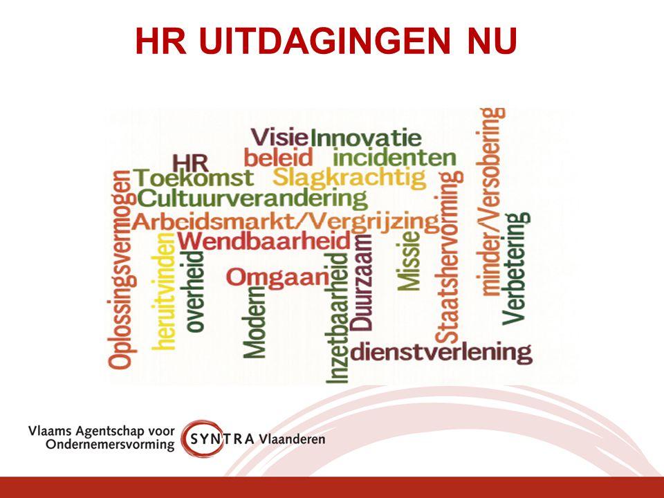 Kernvraag: Hoe kan strategisch HRM beleid SYNTRA Vlaanderen en de actoren helpen bij het realiseren van de nieuwe beheersovereenkomst 2011-2015.