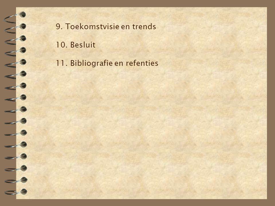 9. Toekomstvisie en trends 10. Besluit 11. Bibliografie en refenties