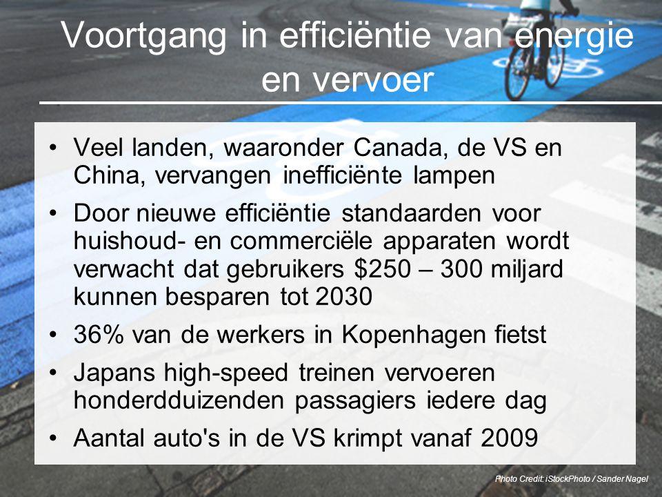 Voortgang in efficiëntie van energie en vervoer Veel landen, waaronder Canada, de VS en China, vervangen inefficiënte lampen Door nieuwe efficiëntie s
