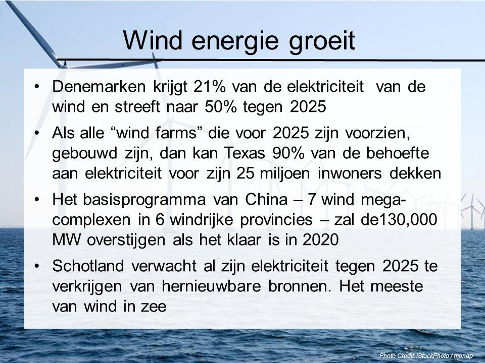 """Wind energie groeit Denemarken krijgt 21% van de elektriciteit van de wind en streeft naar 50% tegen 2025 Als alle """"wind farms"""" die voor 2025 zijn voo"""