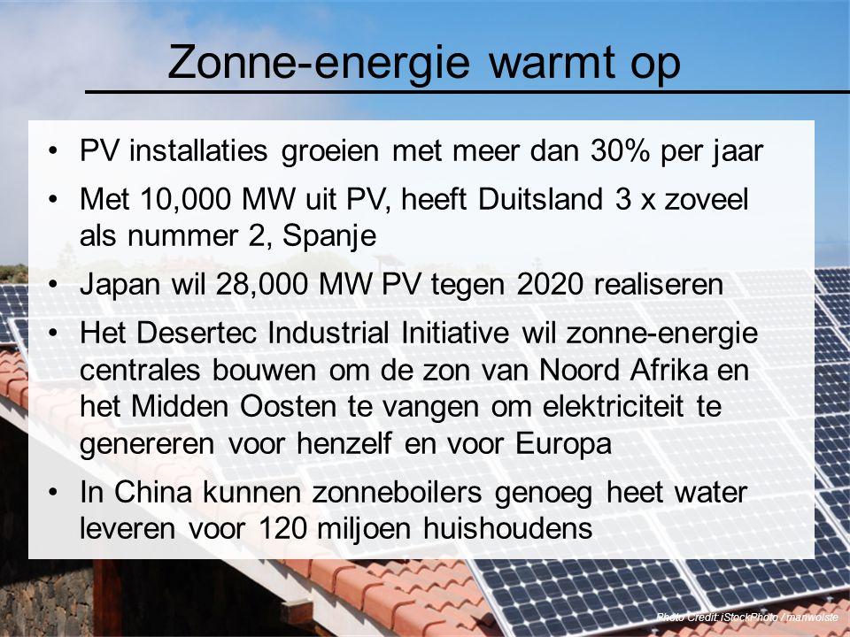 PV installaties groeien met meer dan 30% per jaar Met 10,000 MW uit PV, heeft Duitsland 3 x zoveel als nummer 2, Spanje Japan wil 28,000 MW PV tegen 2