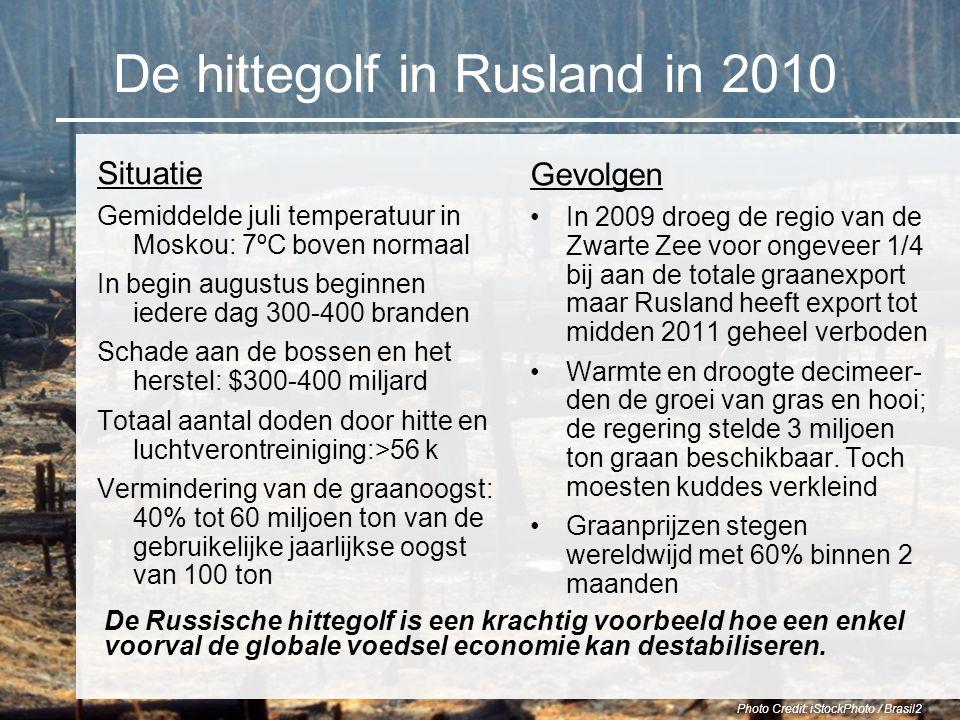 De hittegolf in Rusland in 2010 Gevolgen In 2009 droeg de regio van de Zwarte Zee voor ongeveer 1/4 bij aan de totale graanexport maar Rusland heeft e
