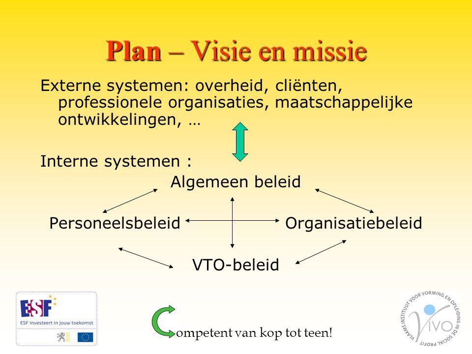 Plan – Visie en missie ompetent van kop tot teen.