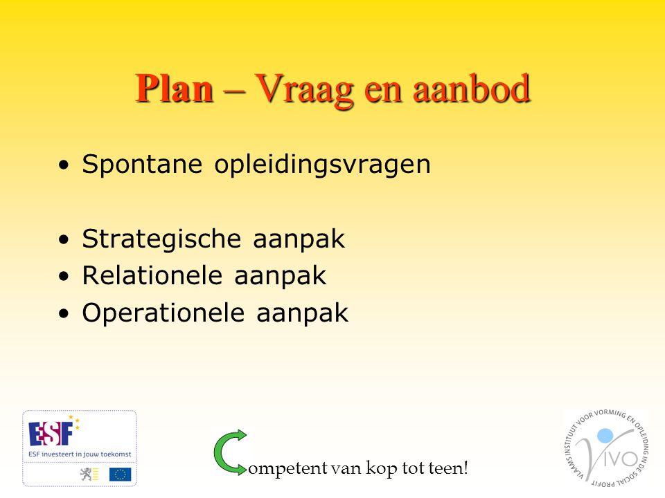 Plan – Vraag en aanbod ompetent van kop tot teen.