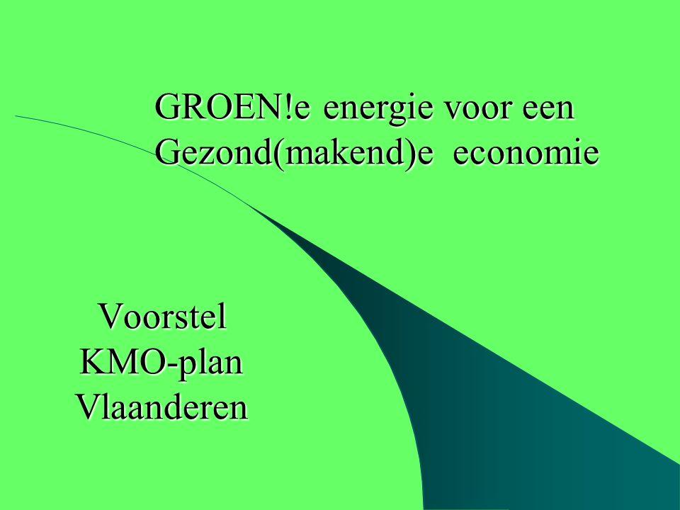 Voorstel KMO-plan Vlaanderen GROEN!e energie voor een Gezond(makend)e economie