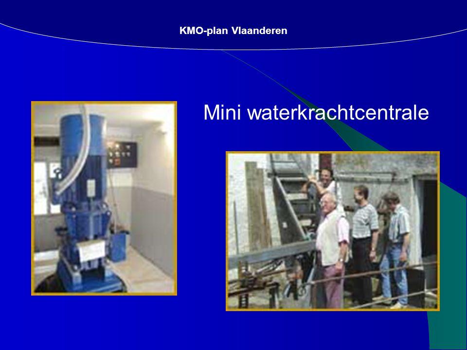 KMO-plan Vlaanderen Mini waterkrachtcentrale