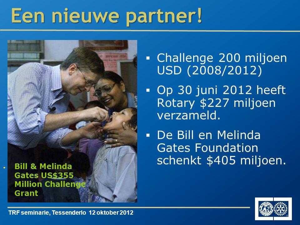 TRF seminarie, Tessenderlo 12 oktober 2012 Een nieuwe partner.