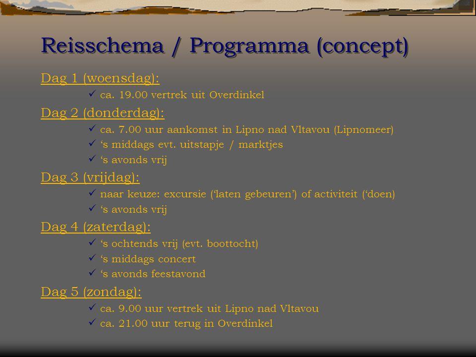 Reisschema / Programma (concept) Dag 1 (woensdag): ca.