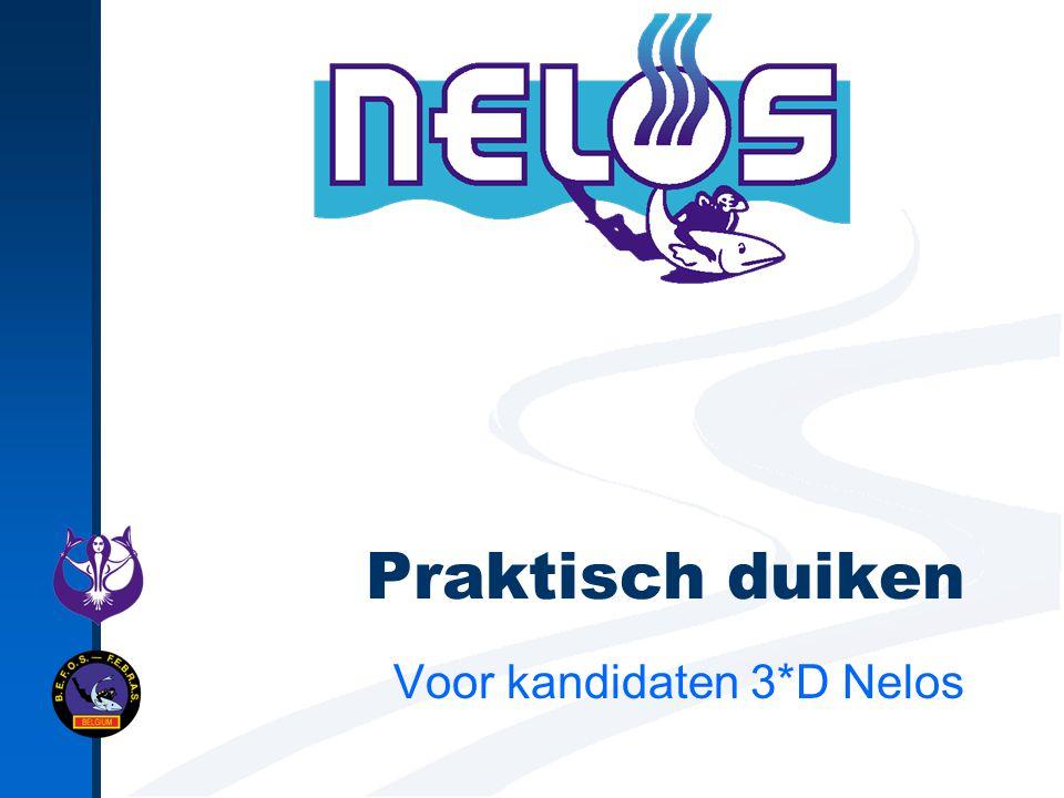 Praktisch duiken Voor kandidaten 3*D Nelos