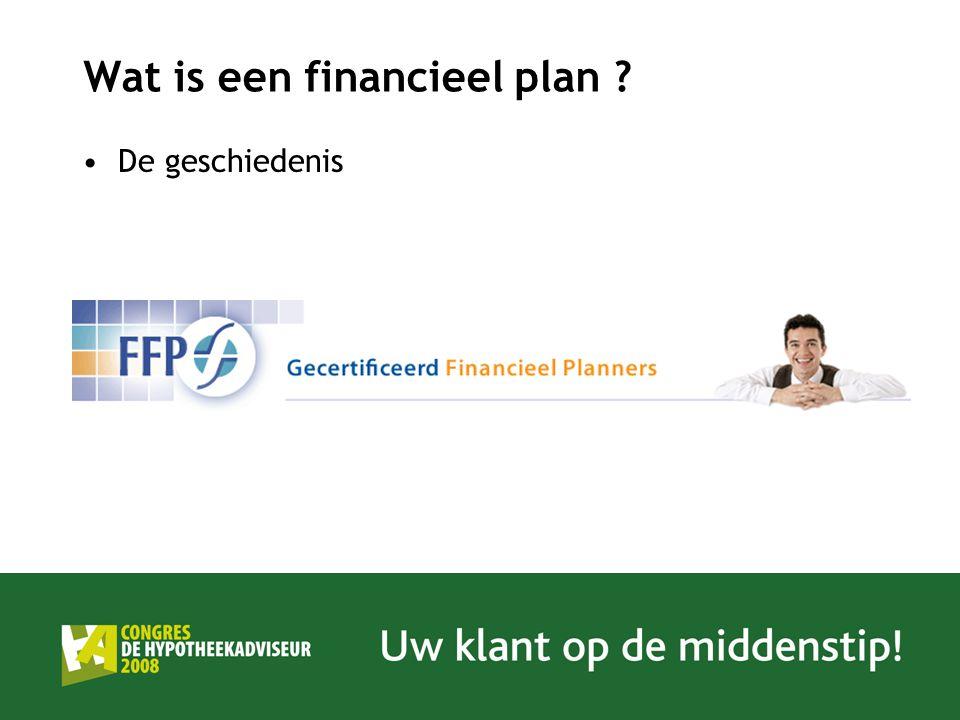Wat is een financieel plan ? De geschiedenis