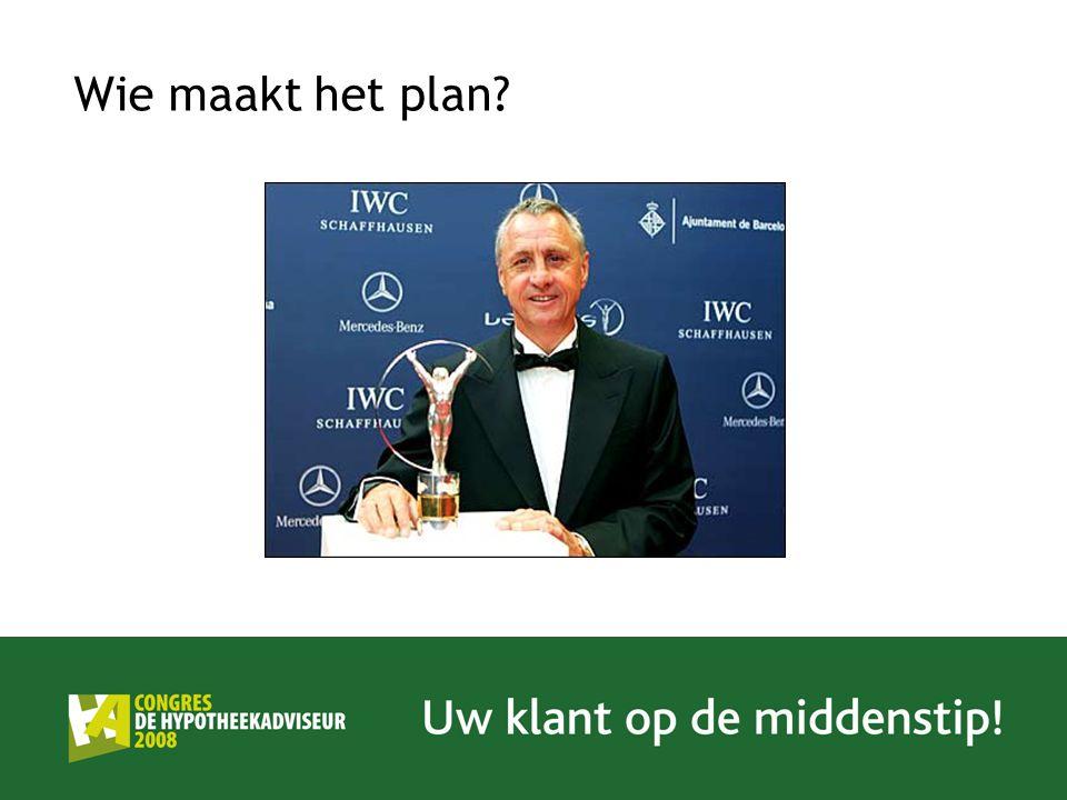 Wie maakt het plan?