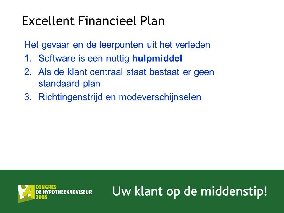 Excellent Financieel Plan Het gevaar en de leerpunten uit het verleden 1.Software is een nuttig hulpmiddel 2.Als de klant centraal staat bestaat er ge