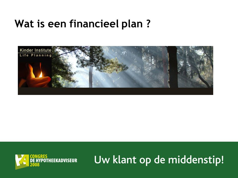 Wat is een financieel plan ?
