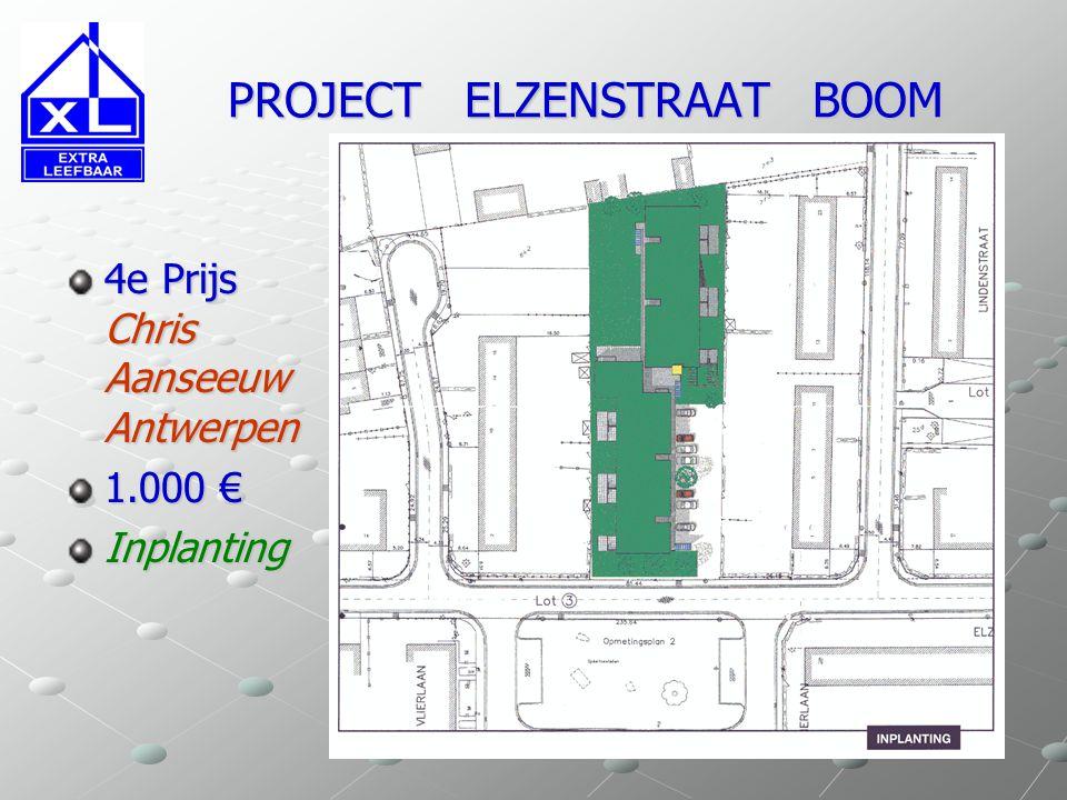 PROJECT ELZENSTRAAT BOOM PROJECT ELZENSTRAAT BOOM 2e Prijs Luc Roegiers Steve Savembier Antwerpen 2.500 € Structuur Invulling units Geveldetail
