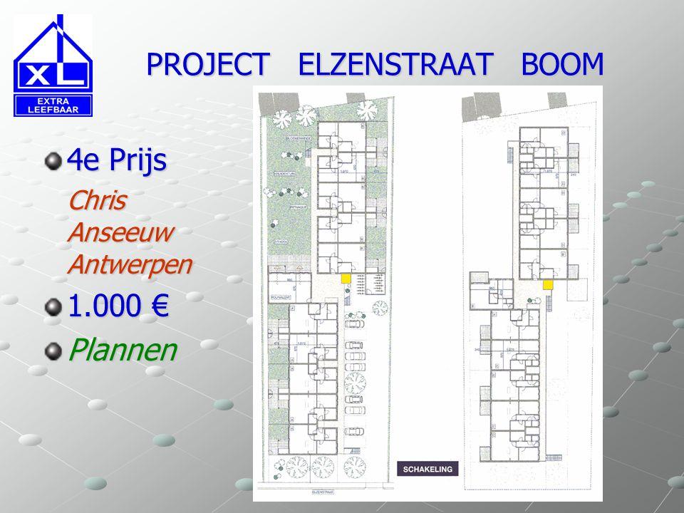 PROJECT ELZENSTRAAT BOOM PROJECT ELZENSTRAAT BOOM Laureaat Babs Geens Antwerpen 1e Prijs Toewijzing uitvoering project Gevels Doorsnede