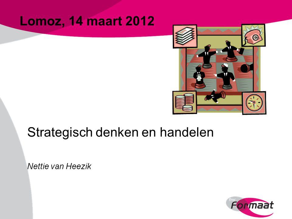 Lomoz, 14 maart 2012 Strategisch denken en handelen Nettie van Heezik