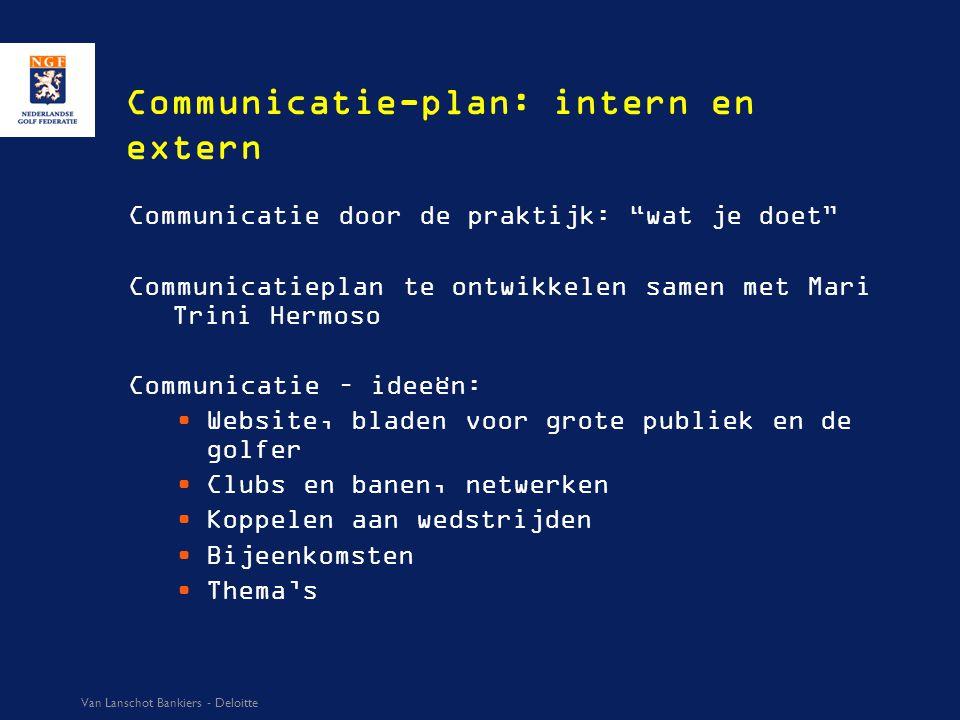 """Communicatie-plan: intern en extern Communicatie door de praktijk: """"wat je doet"""" Communicatieplan te ontwikkelen samen met Mari Trini Hermoso Communic"""