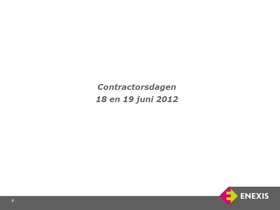 6 Contractorsdagen 18 en 19 juni 2012