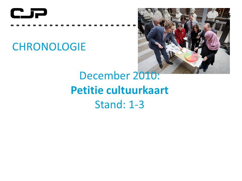 CHRONOLOGIE December 2010: Petitie cultuurkaart Stand: 1-3 16