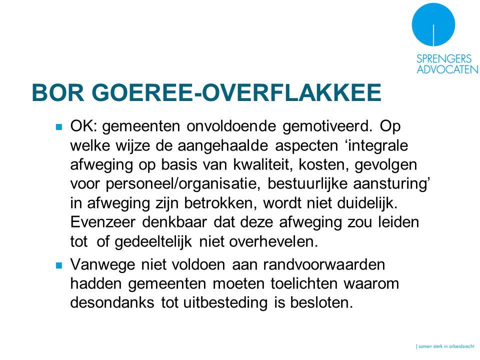 BOR GOEREE-OVERFLAKKEE OK: gemeenten onvoldoende gemotiveerd.