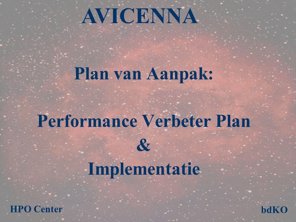 Plan van Aanpak: Performance Verbeter Plan & Implementatie AVICENNA bdKO HPO Center