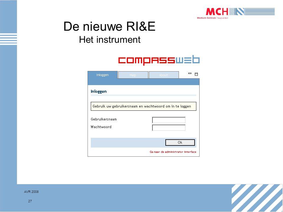 AVR 2008 27 De nieuwe RI&E Het instrument