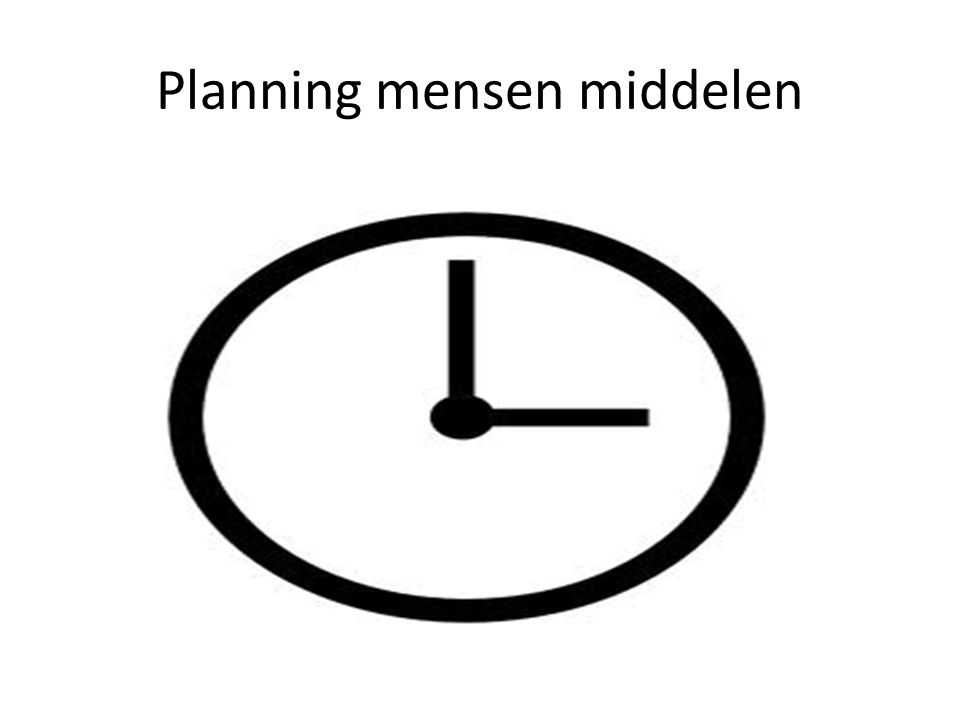 Planning mensen middelen