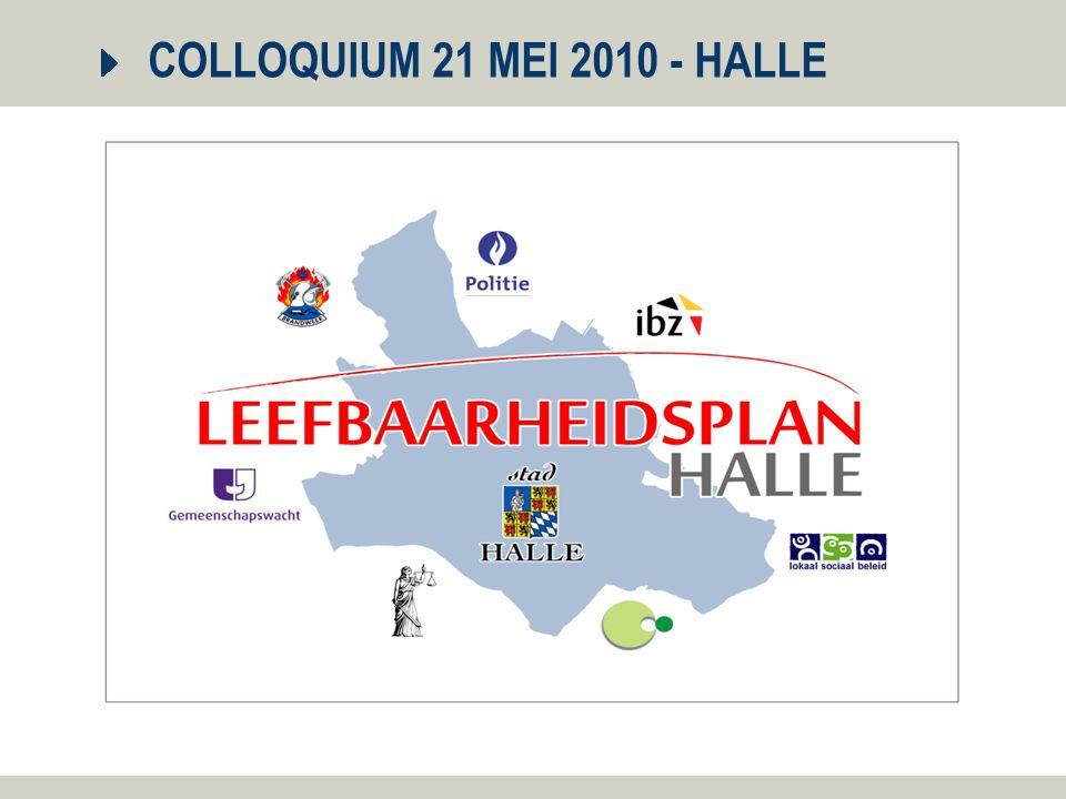 21 mei 2010 2 Integraal leefbaarheidsplan Halle 1.