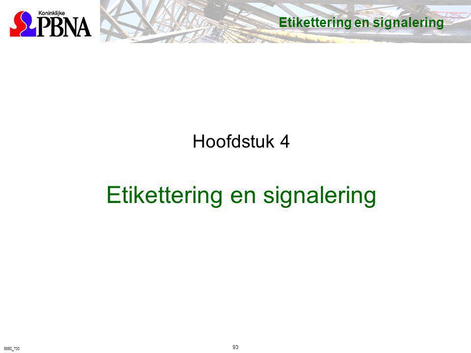 93 6650_700 Etikettering en signalering Hoofdstuk 4 Etikettering en signalering