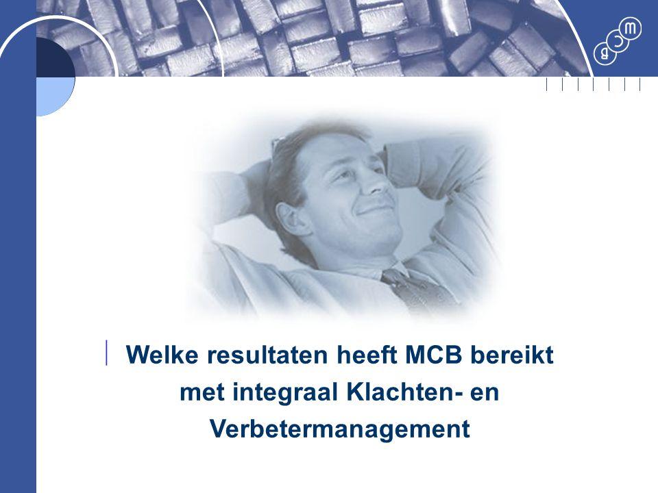  Welke resultaten heeft MCB bereikt met integraal Klachten- en Verbetermanagement