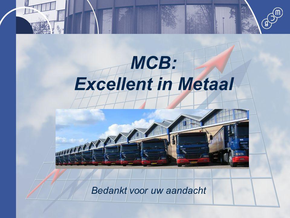 MCB Service in Metaal MCB: Excellent in Metaal Bedankt voor uw aandacht