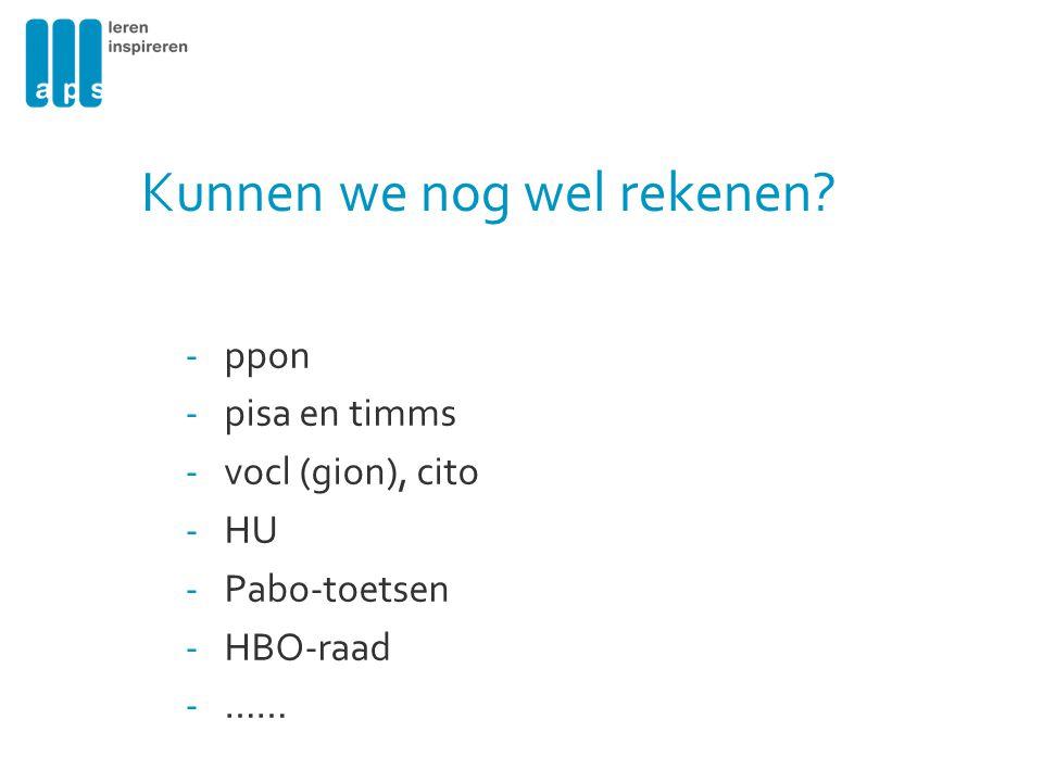 Onderzoeksgegevens naar Rekenen Minne B.(2007). Excellence for productivity.