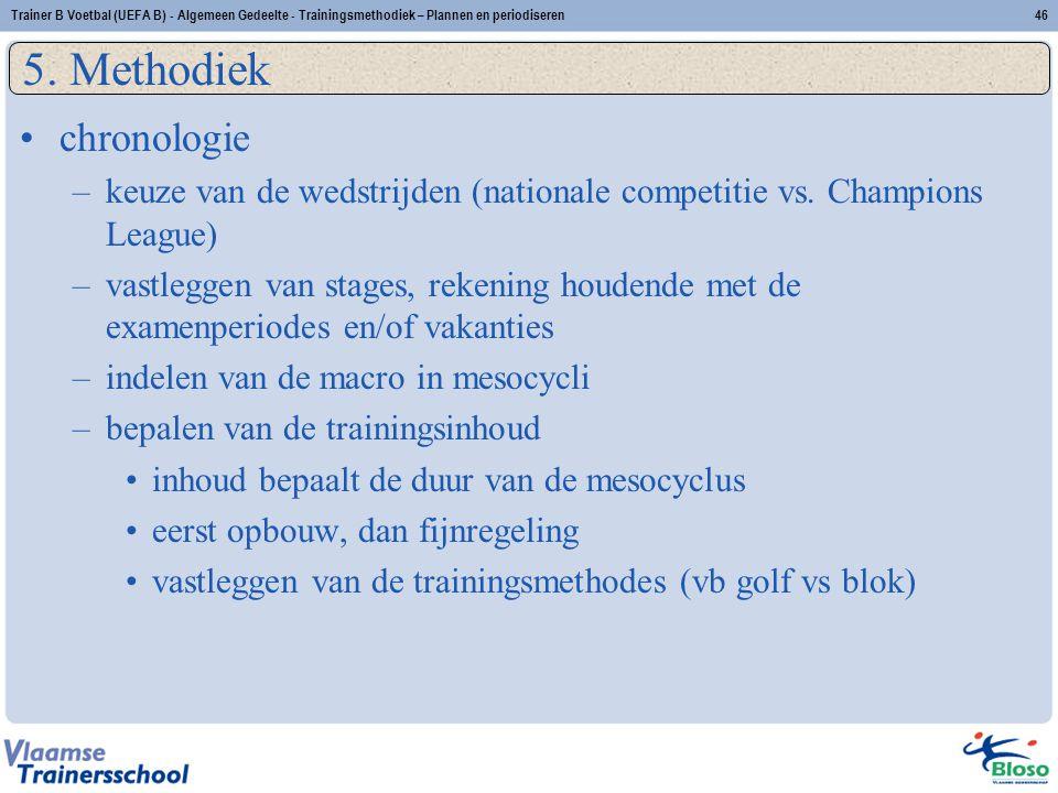 chronologie –keuze van de wedstrijden (nationale competitie vs. Champions League) –vastleggen van stages, rekening houdende met de examenperiodes en/o