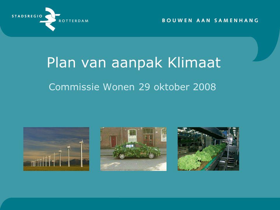 Plan van aanpak Klimaat Commissie Wonen 29 oktober 2008