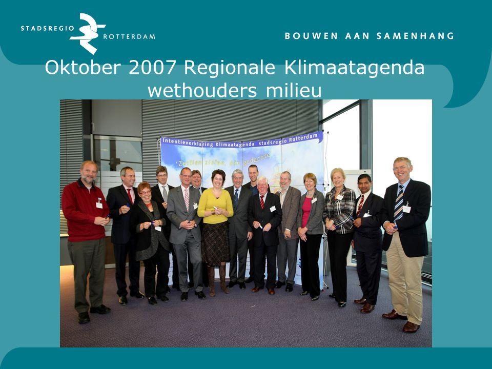 Oktober 2007 Regionale Klimaatagenda wethouders milieu